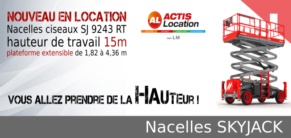 Nacelle ciseaux 15m Skyjack